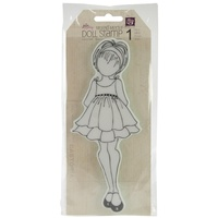 Prima Marketing Julie Nutting Cling Stamps Doll Ruffle Dress