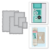 Spellbinders Nestabilities Large Deckled Rectangles S4-202