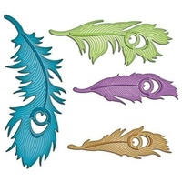 Spellbinders Shapeabilities Peacock Feathers S4-429