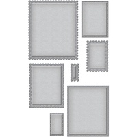 Spellbinders Nestabilities Dies Fancy Edge Rectangles S4-905