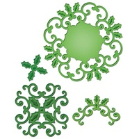 Spellbinders Shapeabilities Holly Motifs S5-057