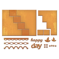 Spellbinders Card Creator Die Step Card Happy Days S7-201