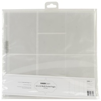 Kaisercraft D-Ring Album Refills 12X12 (4) 4X3 & (4) 4X6 Pockets/Pkg