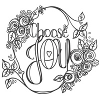 Spellbinders Stamp Choose Joy SBS-049