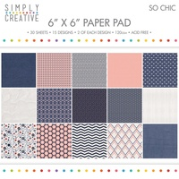 6x6 Simply Creative Paper Pad So Chic 30/pkg