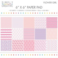 6x6 Simply Creative Paper Pad Flower Girl 30/pkg