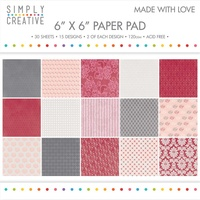 6x6 Simply Creative Paper Pad Made with Love 30/pkg