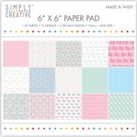 6x6 Simply Creative Paper Pad Make A Wish 30/pkg