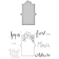 Spellbinders Stamp & Die Set Fresh Sent SDS-007