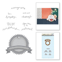 Spellbinders Stamp & Die Set Happy Times SDS-009