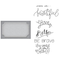 Spellbinders Stamp & Die Set Frame of Mind SDS-011