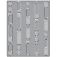 Spellbinders Embossing Folder 4.25x5.5 Curtain Beads SES-005