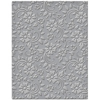 Spellbinders Embossing Folder 4.25x5.5 Flowers & Leaves SES-008