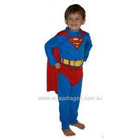 Superman Dress Up Costume Size 6 to 8 years