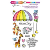 Stampendous Fran's Clear Stamps Animal Mobile