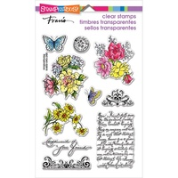 Stampendous Fran's Clear Stamps - Floral Charms FREE SHIPPING