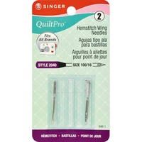 Singer QuiltPro Hemstitch Wing Point Machine Needles