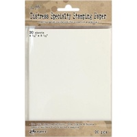 Tim Holtz Distress Specialty Stamping Paper 4.25X5.5 20 Sheets
