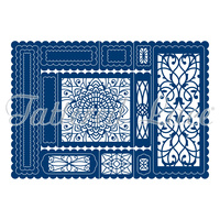 Tattered Lace Die Decorative Trifold Card TLD0070