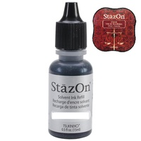 StazOn Craft Ink Refill 15ml Claret