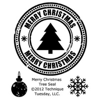 Technique Tuesday Stamps Merry Christmas Tree Seal FREE SHIPPING