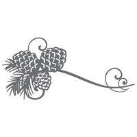 Ultimate Crafts Dies - Pinecone Flourish FREE SHIPPING