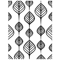 Ultimate Crafts A2 Embossing Folder Screen of Leaves FREE SHIPPING