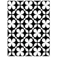 Ultimate Crafts A2 Embossing Folder Clover Quilt