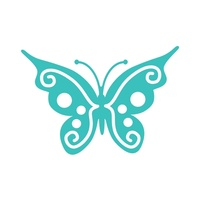 Ultimate Crafts Invali Impression Dies - Fancy Butterfly FREE SHIPPING