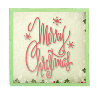 Ultimate Crafts Die Silent Night - Merry Christmas Script FREE SHIPPING