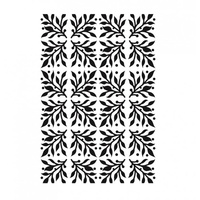 Ultimate Crafts Embossing Folder 5 x 7 White Christmas Mistletoe Magic