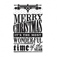 Ultimate Crafts Embossing Folder 5 x 7 White Christmas - Christmas Wonder
