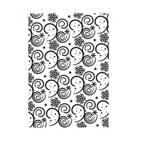Ultimate Crafts Embossing Folder 5 x 7 White Christmas - Snow Storm FREE SHIPPING