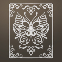 Ultimate Crafts Dies Framed Butterfly Flourish Set