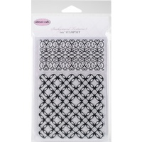 Ultimate Crafts Stamp Set 4x6 Background Textures Jewelled Lattice