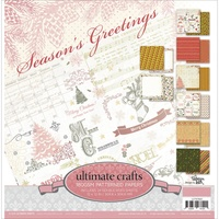 12x12 Paper Pad 24 Double-Sided Sheets -  Seasons Greetings