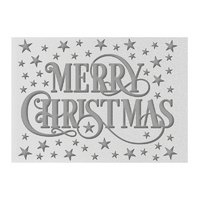 Ultimate Crafts A2 Embossing Folder Merry Christmas FREE SHIPPING