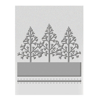 Ultimate Crafts A2 Embossing Folder Winter Trees