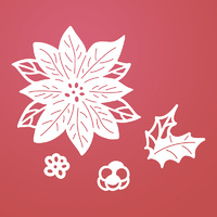 Ultimate Crafts Dies Poinsettia Layer Set
