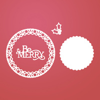 Ultimate Crafts Dies Be Merry Lace Doily