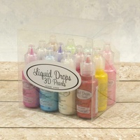 Liquid Drops 3D Pearls Set 12 Colours Bottles