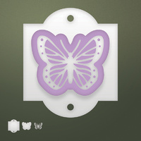Ultimate Crafts Dies Butterfly Tag