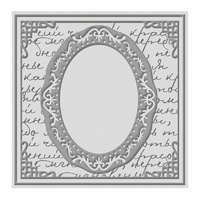 Ultimate Crafts 6X6 Embossing Folder Ornate Mirror Rambling Rose