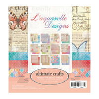 Ultimate Crafts 6x6 Paper Pad 24 Sheets L Aquarelle FREE SHIPPING