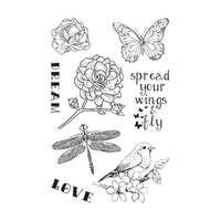 Ultimate Crafts Spread your Wings - 4x6 Stamp Set - L Aquarelle Designs FREE SHIPPING