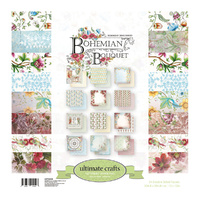 Ultimate Crafts Bohemian Bouquet 12x12 Paper Pad