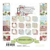 Ultimate Crafts Bohemian Bouquet 6x6 Paper Pad