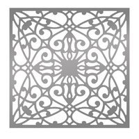 Ultimate Crafts Bohemian Bouquet Flourished Background 6x6 Stencil