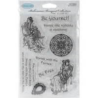 Ultimate Crafts Bohemian Bouquet Be Yourself Stamp Set