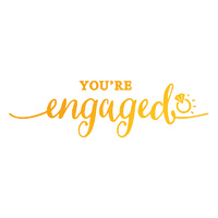 Ultimate Crafts Sweet Sentiments Hotfoil Stamp You're Engaged